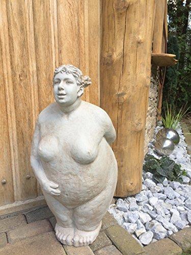 E-X Frauen Skulptur ° Hilda° Dicke Dame in Steinoptik ° Garten Figur ° Deko H 59 cm