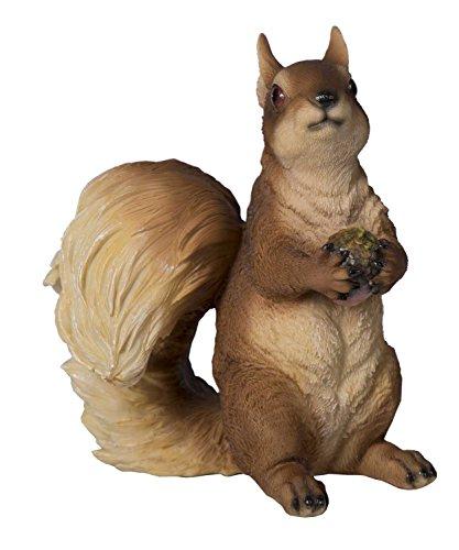 Tierfigur Eichhörnchen Deko-Tier Polyresin Höhe 225 cm Skulptur Squirrel Tier-Deko Deko-Eichhörnchen