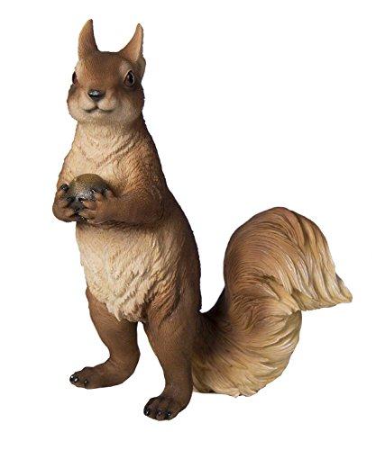 Tierfigur Eichhörnchen Deko-Tier Polyresin Höhe 28 cm Skulptur Squirrel Tier-Deko Deko-Eichhörnchen