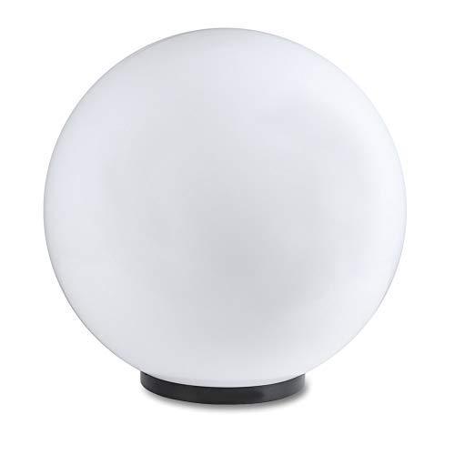 Kugelleuchte 50 cm Ø weiße Gartenlampe Außenleuchte strahlend schöne Deko für Innen Außen Gartenbeleuchtung Gartenkugel für Energiesparlampen E27 LED - 230 V 23W Kugellampe mit IP44