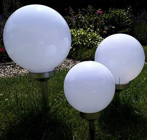 Kugelleuchte Gartenkugel 3er Set 302520cm Kugel Garten Kugellampe Solar LED